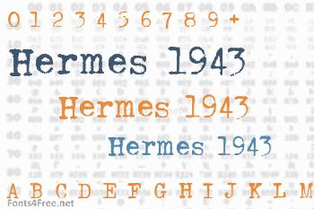Hermes 1943 Font