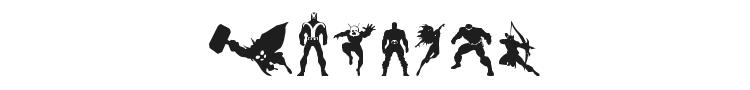 Heroes Assemble Dingbats Font Preview
