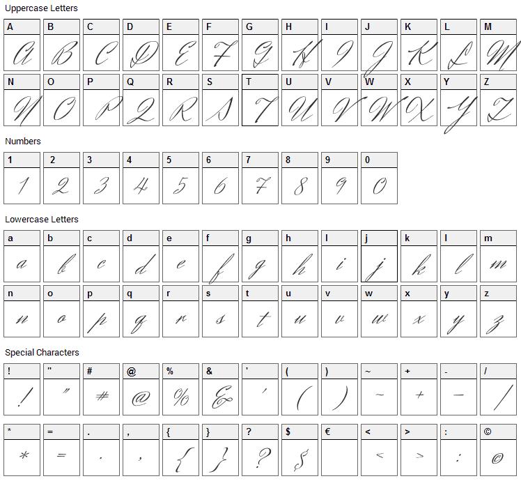 Herr Von Muellerhoff Font Character Map