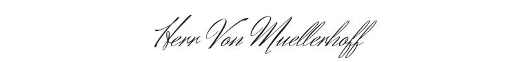 Herr Von Muellerhoff Font Preview