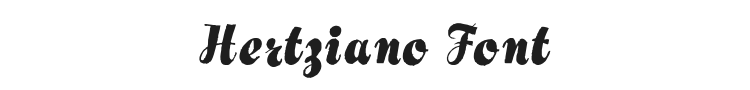 Hertziano Font Preview