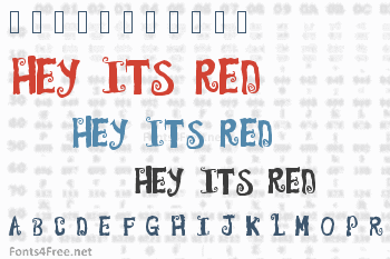 Hey its red Font