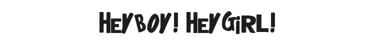 HeyBoy! HeyGirl! Font Preview