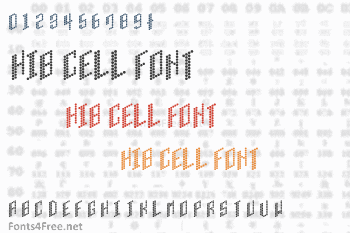 HIB Cell Font