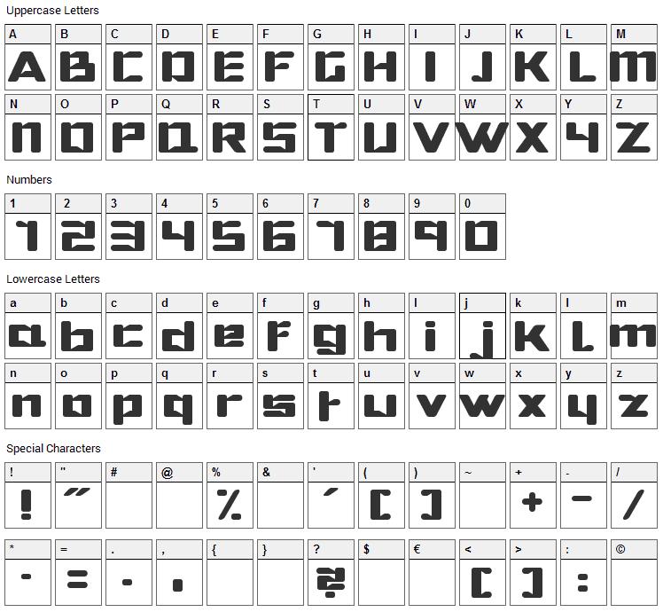 Hibernate Font Character Map