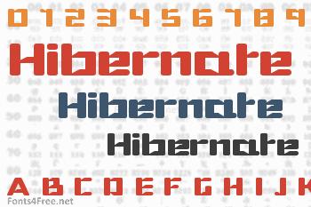 Hibernate Font