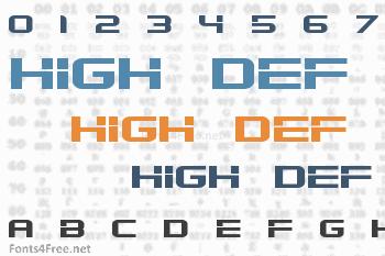 High Def Font