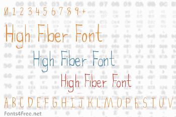 High Fiber Font