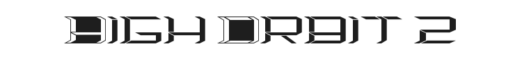 High Orbit 2 Font Preview