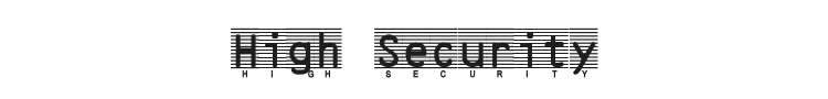 High Security Font Preview