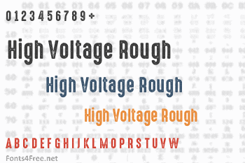 High Voltage Rough Font