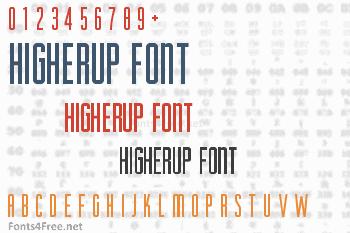 HigherUp Font