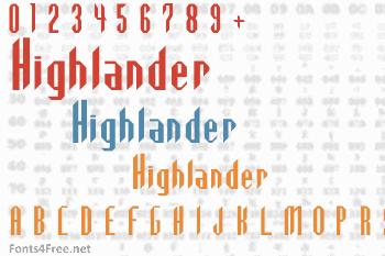 Highlander Font