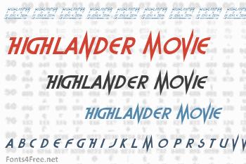Highlander Movie Font