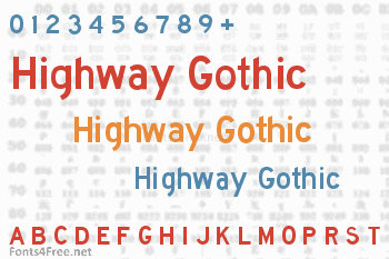 Highway Gothic Font