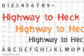 Highway to Heck Font