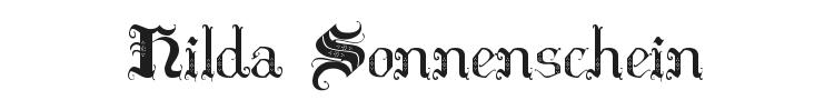 Hilda Sonnenschein Font Preview