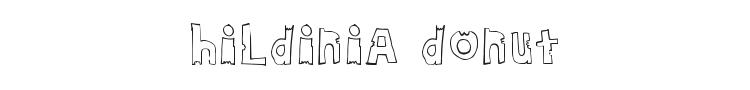 Hildinia Donut Font