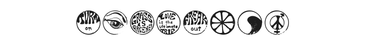 Hippy Stamps Font Preview