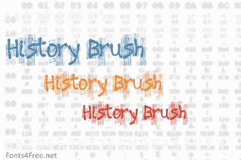 History Brush Font