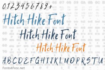 Hitch Hike Font