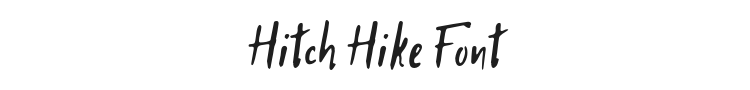 Hitch Hike Font Preview