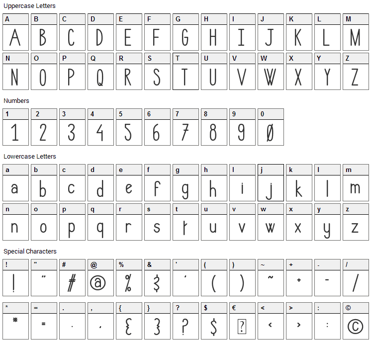 Hlmt Rounded Font Character Map