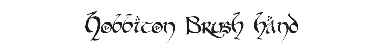Hobbiton Brush hand Font Preview