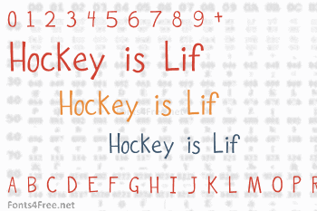 Hockey is Lif Font
