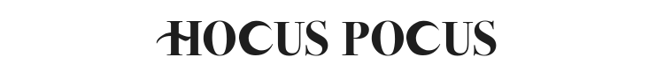 Hocus Pocus Font Preview