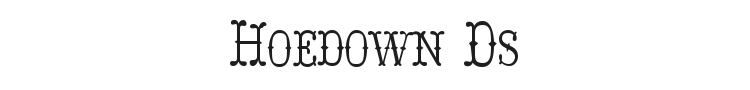 Hoedown Ds Font Preview
