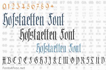Hofstaetten Font