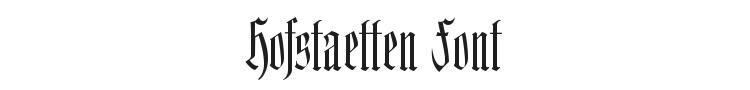 Hofstaetten Font Preview