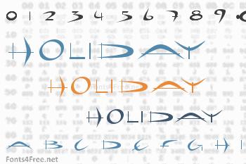 Holiday Hardcore Font