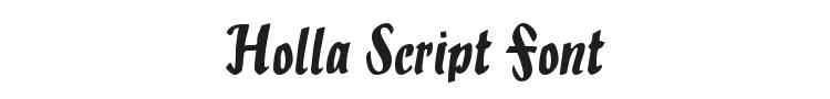 Holla Script Font