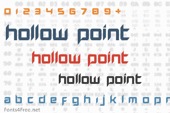 Hollow Point Font
