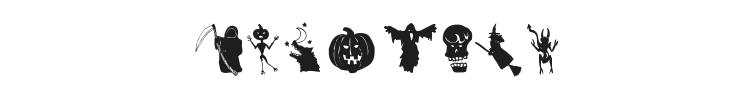 Holloweenie Bats Font Preview