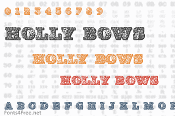 Holly Bows Font