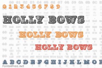 Holly Bows Font