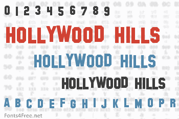 Hollywood Hills Font