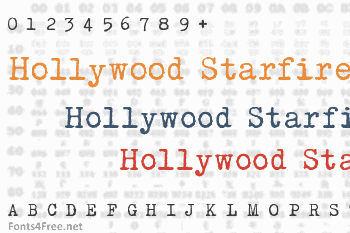 Hollywood Starfire Font