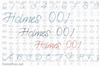 Holmes 001 Font