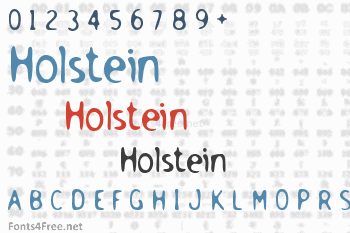 Holstein Font