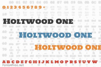 Holtwood One Font