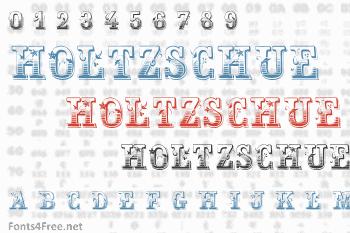 Holtzschue Font