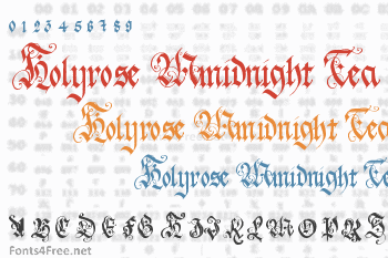 Holyrose Mmidnight Tea Font