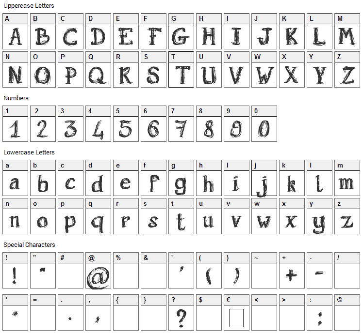 Holyrose Sale Font Character Map