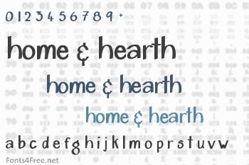 Home & Hearth Font
