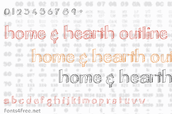 Home & Hearth Outline Font