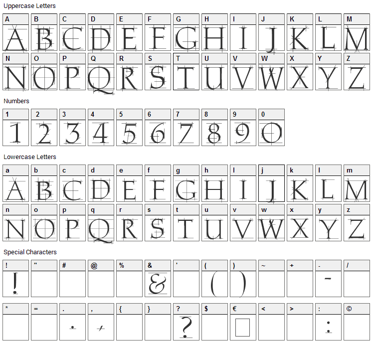 Home Remedy Font Character Map